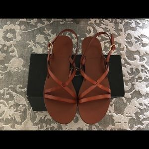 J Crew Strappy Leather Sandals NEW